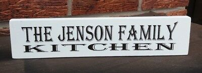 Wooden kitchen sign free standing sign shabby vintage personalised plaque
