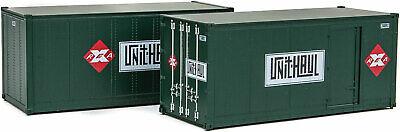 H0 Container 20 Fuß Railway Express Agency 2 Stück -- 8680 NEU