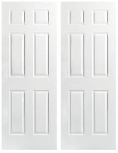 Pair of 32 inch Wooden Doors with Latch and Hinges