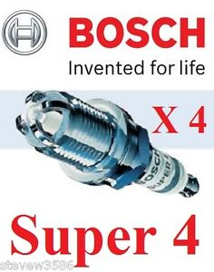 4 X NEW BOSCH SUPER 4 SPARK PLUGS BMW MINI 1.6 ONE COOPER / S FR78X SET