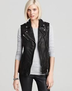 XS Aritzia Mackage Leather Vest