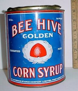 Antique Corn Syrup Tin Great Litho London Ontario image 1