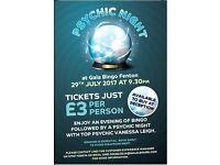 Psychic Night at Gala Bingo Fenton