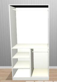 PAX wardrobe - white Hemnes doors
