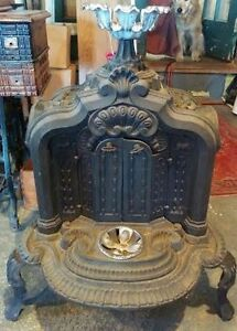 1855 wood-burning bedroom stove for sale. $400