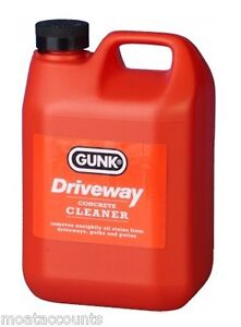 Gunk driveway cleaner 2lt 832 remove oil stain from for Cleaning oil off cement