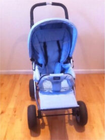 A lovely light blue buggy
