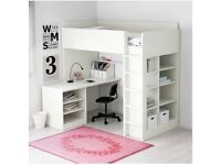 Ikea Stuva loft bed/highsleeper with desk, drawers and shelves