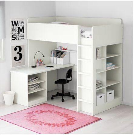 Ikea Stuva Loft Bed High Sleeper With Desk And Shelves
