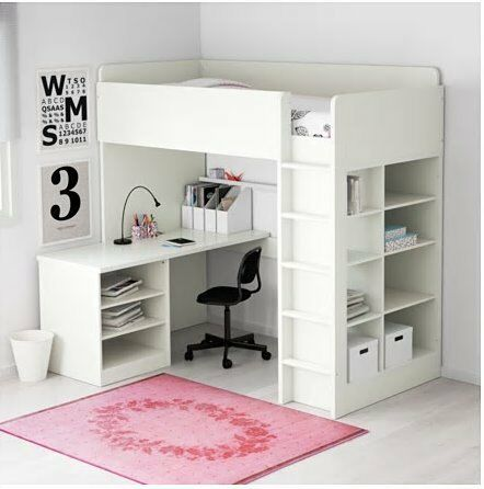 Ikea Stuva Loft Bed With Desk Drawers And Shelves