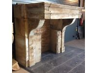 Wanted huge antique french stone fireplace