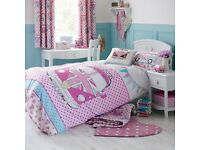 Dunelm Mill caravan bedding and curtains set