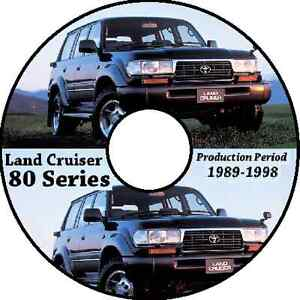 TOYOTA LAND CRUISER 80 SERIES 1990-1997 WORKSHOP SERVICE REPAIR CDROM