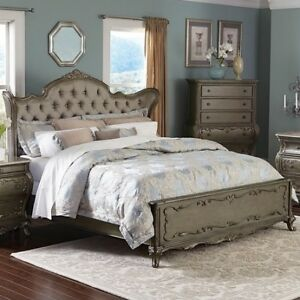BEDROOM SET UPHOLSTERED BED BEAUTY AND THE BEAST ROCOCO BAROQUE