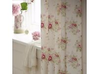 "Dorma ""Vintage Floral "" pair of curtains in quality poly cotton fabric."
