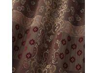 """Dunelm Mayfair Claret Heavyweight Curtains 90""""x90"""""""