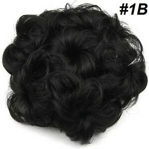 Wavy Curly Hair Bun Cover Hairpiece Scrunchie,Chignon diam.10cm St. John's Newfoundland image 3