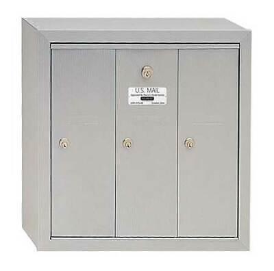Vertical 3 Door Mailbox for USPS Access, Aluminum