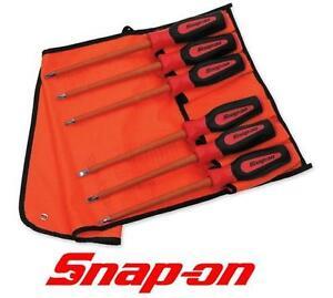 NEW SNAP-ON 6PC SCREWDRIVER SET Non-Conductive Composite Slim Tip Combination Screwdriver Set - TOOL 105404913