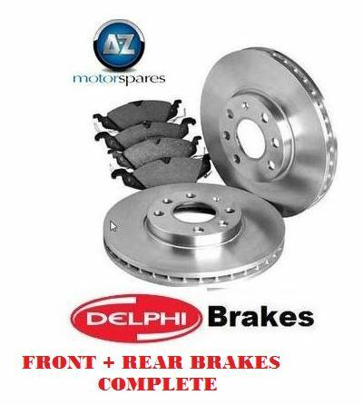 FOR LEXUS GS460 GS300 450H 430 2005> FRONT + REAR DELPH BRAKE DISCS AND PADS KIT