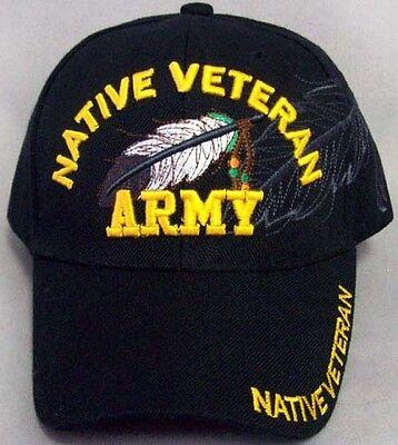 Native Veteran - Army Native Pride Caps Hats Embroidered (CapNp481 ^*)