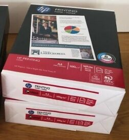 HP Brand - White A4 Printer Paper - 100 gsm - 2 Reams of 500 sheets (1000 total) - Excess Stock