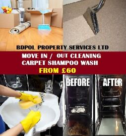 Short Notice-Professional End of tenancy Cleaning - Half Price - Carpet shampoo wash
