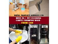 Short Notice - End of Tenancy Cleaning - Carpet shampoo wash - 50% Off