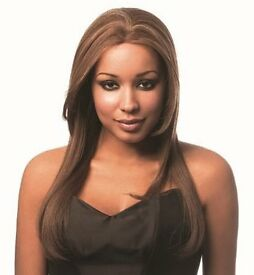 Sleek 100% Human Hair Style Lace Front Wig Pizzazz Clour 1 Jet Black