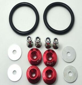 Brand New JDM RED Quick Release Fasteners kit