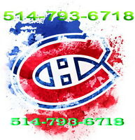 2 Billets Canadiens Montréal Nashville Buffalo Flor. Ana Tickets
