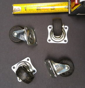 4 New 1-1/2 inch (3.8 cm) Swivel Casters