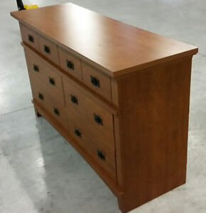 SOLID WOOD DRESSER / WROUGHT IRON HANDLES