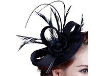 Navy fascinator/ wedding/ races hat
