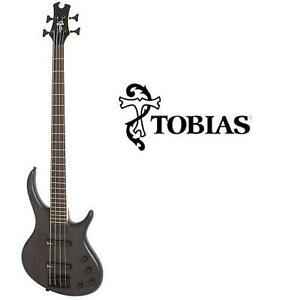 NEW* TOBIAS TOBY DELUXE BASS GUITAR DELUXE IV 4 STRING BASS GUITAR - TRANSLUCENT BLACK INSTRUMENT MUSIC STRINGS