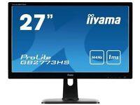 """AS new - iiyama GB2773HS (Gaming Monitor) 27"""" G-Master 144Mhz HD LED Monitor w/FreeSync - BOXED"""