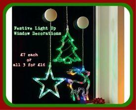 Festive Light up Window Decorations