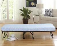 Folding Cot with Floral Print Mattress - BRAND NEW Mississauga / Peel Region Toronto (GTA) Preview