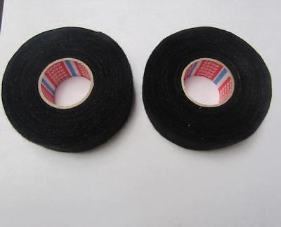 Lot Of 2 Tesa 51616 Fleece Auto Harness Adhesive Electrical Tape 32mm X 7.5m