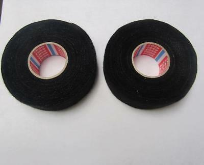 Lot Of 2 Tesa 51616 Fleece Auto Harness Adhesive Electrical Tape 32mm X 7.5m