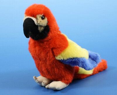 Papagei rot Plüsch Kuscheltier Ara Plüschtier Stofftier 18cm (für Pirat - Roter Ara Kostüm