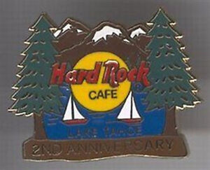 Hard-Rock-Cafe-LAKE-TAHOE-2000-2nd-Anniversary-PIN-Mountains-Trees-Sailboats