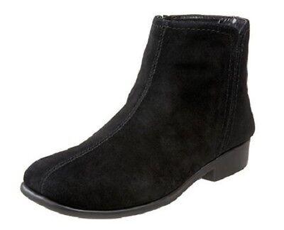 Aerosoles Womens Suede Ankle Boots Duble Trouble Best Dress Shoe Black Size (Best Ankle Boots)