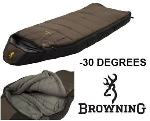 NEW BROWNING CAMPING MCKINLEY -30 DEFREE OVERSIZED HOODED RECTAN