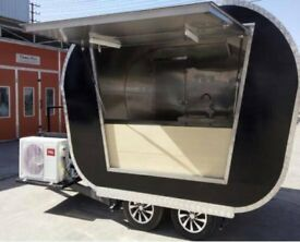 Mobile Catering Trailer Burger Van Pizza Trailer Hot Dog Ice Cream Cart 2800x1650x2450