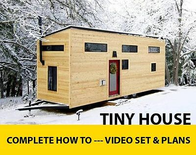 Tiny House Plans   Diy Video Dvd Set 6 Hours   Loft   Trailer Modern Rustic Home