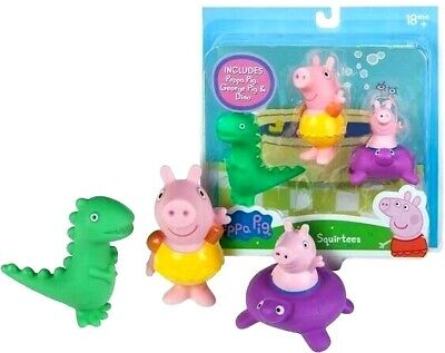 NEW Peppa Pig Bath Squirtees: Peppa, George, and Dinosaur Bath Toys  - George Pigs Dinosaur