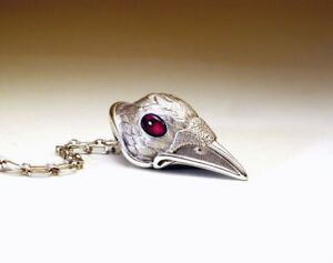 Necklace- Pendant-Ruby eye-sterling silver
