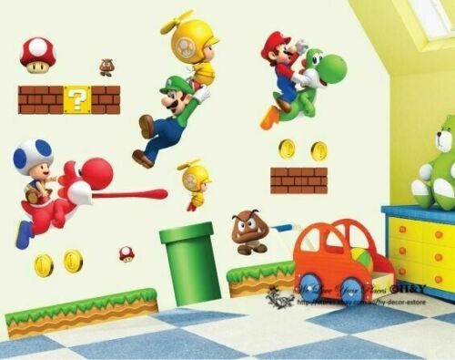 Home Decoration - Super Mario Kids Nursery Removable Wall Decal Vinyl Stickers Art Home Decor