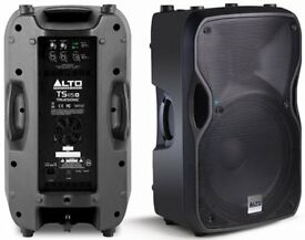 ALTO TS 115A PA SPEAKERS C/W ALTO COVERS